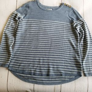 Nautical Striped Sweater Blue Large